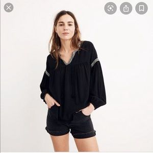 Madewell Ballon Sleeve Blouse